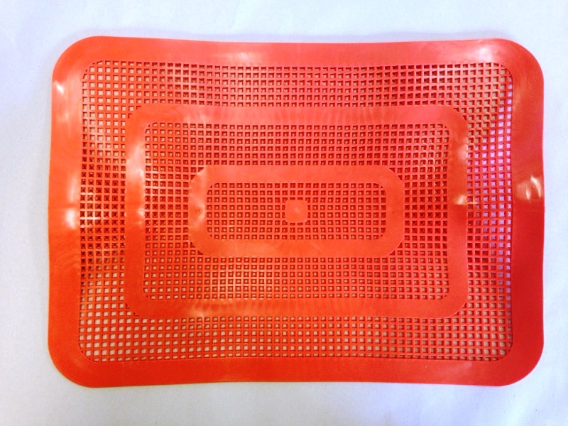 Large plastic car hop tray mat orange