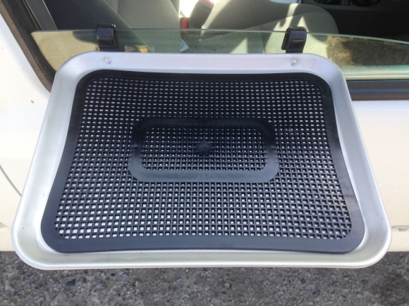 small tray mat black